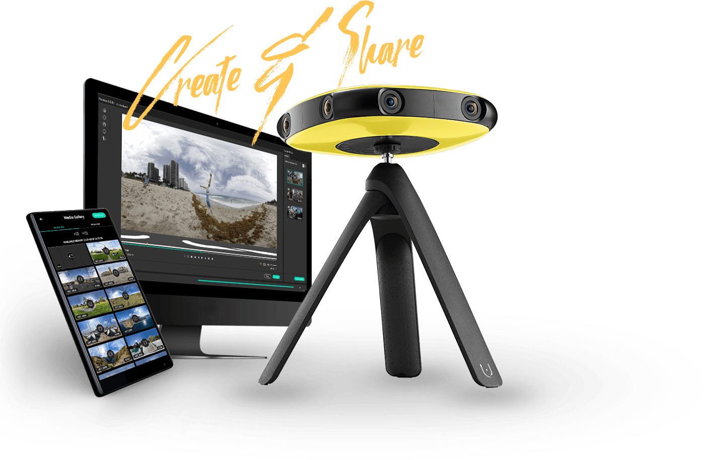 create and share with Vuze VR camera, studio and app