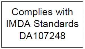 Complies with IMDA Standards